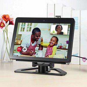 PassBeauty Support de haut-parleur pour Echo Show 2ème génération Support en aluminium pour Amazon Echo Show 2ème génération Smart Speaker Horizontal Rotation 360 °