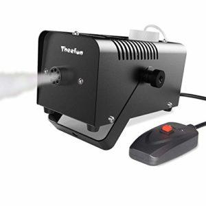 TYZXR Machine à Brouillard, Machine à Brouillard portative de 400 Watts pour Halloween et Les fêtes avec télécommande Filaire pour Les Vacances, Les Mariages – Sortie impressionnante