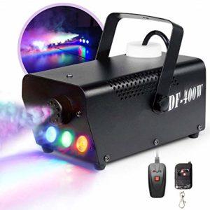 TYZXR Machine à fumée, Machine à fumée Portable avec lumières LED équipées d'une télécommande Filaire et sans Fil pour Les fêtes, Noël, Halloween et Les Mariages