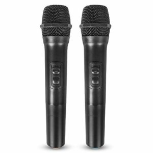 Wodeni Wireless Microphone Handheld Dynamic Vocal Microphone Voice Amplifier 2-in-1