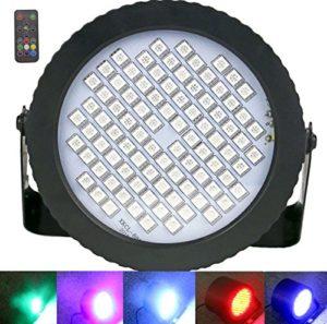 88 LED lumières de DJ, Latta Alvor Par Lumière Disco Mini Lumières de la scène pour la fête Lumière Stroboscopique RGB LED Lumière (RGB)