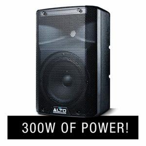 ALTO Professional TX208 – Enceinte Active Bidirectionnelle 8″ 300 W avec Crossover Actif, de Nombreuses Connectivités et Limiteur Analogique Intégré