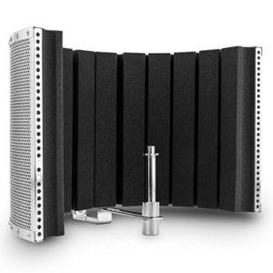 ana MP32 MKII – Ecran acoustique pour microphone (absorbeur de bruits ambiants et echos pour prise de son sèche, pour studio ou live, mousse 5cm d'épaisseur)