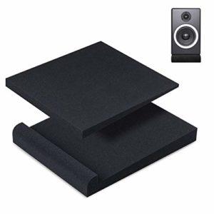 Asamio Lot de 2 coussinets d'isolation pour moniteur de studio en mousse acoustique haute densité 17*30*4cm a