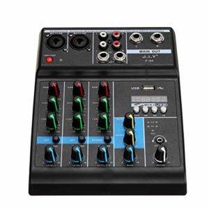 BouBou Amplificateur Professionnel de Puissance d'étape de Console de mélange d'Usb de Bluetooth de mélangeur Audio de 4 canaux