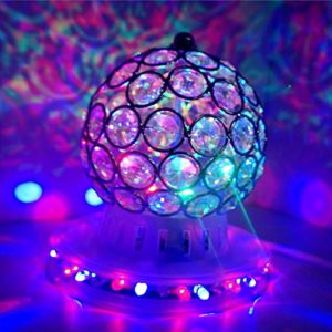 Boule magique de cristal AVEKI Disco DJ Party Auto Rotatif Stage Light avec support LED multicolores pour Noël, mariage, fête d'anniversaire