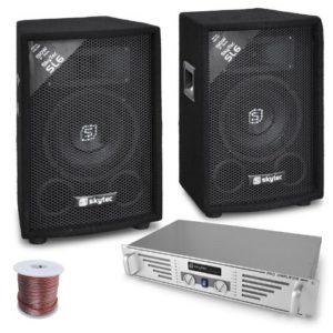 DJ-pa-système complet (480 w rookie amplificateur 2 x 600 w avec 2 enceintes et, table de mixage)