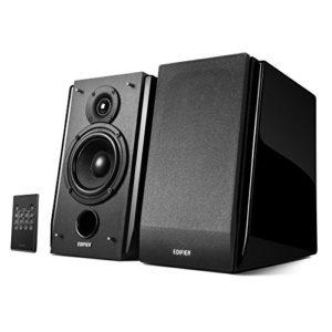 Edifier R1850DB-BLK Set d'enceintes 2.0 canaux 70 W Noir – Sets d'enceintes (2.0 canaux, 70 W, PC/Ordinateur Portable, Noir, Rotatif, 60-20000 Hz)