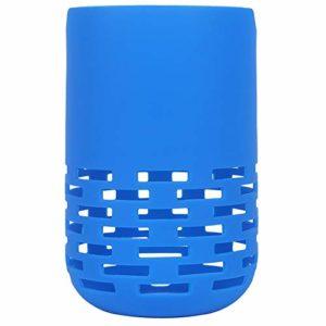 Fanuse Haut-Parleur Antichoc de Colonne Souple Housse de en Silicone Durable pour Haut-Parleur Maison Portable (Bleu)