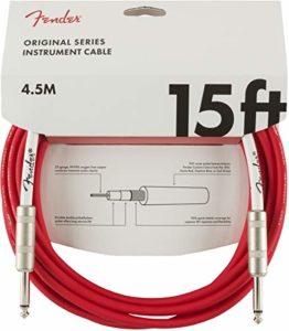 Fender 099-0515-010 Câble pour instrument série originale – 15 pi – STR/STR – Fiesta Red