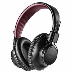 GXYAS Casque Bluetooth avec suppression du bruit actif sur la tête sans fil pliable sans fil Bluetooth