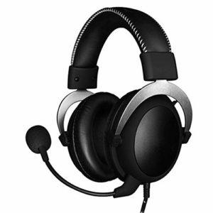 GXYAS Esports Casque de Gaming avec réduction du Bruit 3,5 mm avec câble, Microphone Amovible, autonomie Longue durée, Lecteur de 53 mm