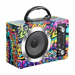 LBL-LLL Haut-Parleur Bluetooth Portable, avec Stéréo Radio FM Et d'autres Fonctions, Distance De Connexion Effective De 30 Mètres, Convient pour Les Loisirs Et Le Divertissement,Multicolored