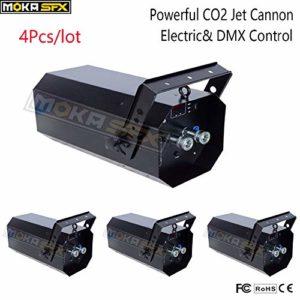 Lot de 4 canons à CO2 puissant DMX à jet de CO2 pour DJ Party