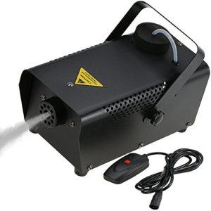 Machine à Fumée,Tomshine Machine à Brouillard Conduit 400W + Télécommande, 200ml grande capacité pour Halloween Anniversaire Mariage Théâtre Party Disco Club Dj
