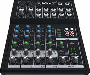 Mackie Mix Table de mixage 6 canaux Noir