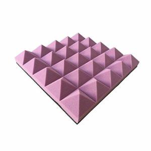 Matériau réducteur de bruit Pyramide Mousse acoustique, Salle de musique de danse Salle de panneaux acoustiques Appliquer à mur porte fenêtre insonorisant coton 10PCS Peut être utilisé dans les tuyaux