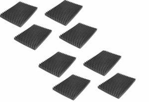 Mousse acoustique à picots d'isolation phonique – Pour studio d'enregistrement, pièce YouTube – Fabriquée en Allemagne – 500 x 350x 50mm
