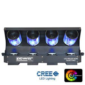 Power Lighting LED Roller 40W 4 en 1 Noir
