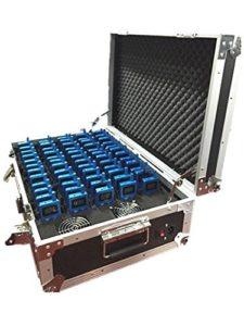 Système de Guidage Audio numérique sans Fil pour Le Guidage et l'événement (4 émetteurs+56 récepteurs+Grand étui de Charge pour 60 appareils PC)