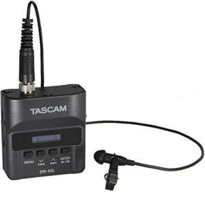 Tascam DR10L Enregistreur audio avec micro Lavalier