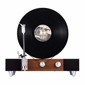 Tourne-disque Rétro Vinyl Record LP Lecteur Living Retro Gramophone Antique Chambre Bluetooth Enregistrement audio Lecteur Lecteur De Vinyle De Style Vintage ( Color : Brown , Size : 43x25x40cm )
