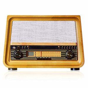 Tourne-disque Rétro Vinyle phonographes Mode bureau phonographes Accueil petit haut-parleur Bluetooth Rétro Gramophone Lecteur De Vinyle De Style Vintage ( Color : Yellow , Size : 425x335x295mm )