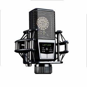 WSMLA Microphone à condensateur Bundle Mic Kit avec Suspension réglable Mic Scissor Bras en métal et Double Choc Mont-Couche Filtre Anti-Bruit for Studio d'enregistrement et de Diffusion