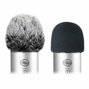 YOUSHARES Micro Mousse Anti Pop, Microphone Bonnette pour Anti Bruit, La Filtre Correctement le Vent les Pop à Blue Yeti, Yeti Pro(Blue))