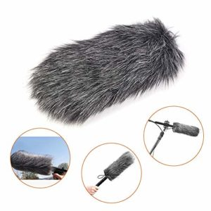 Yunir Pare-Brise, 19cm Microphone extérieur en Fourrure Artificielle Dusty MIC, Filtre Le Bruit et Rend l'enregistrement Clair