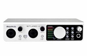 YYZLG Professional K Song Recording USB Carte son Mixeur de scène 4 canaux Audio Mixer Enregistrement Mixer Stéréo Mixer Avec