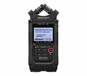 Zoom H4nPro-BK/IF – Enregistreur 4 pistes portable – couple microphone X/Y et 2x entrées XLR combo – modélisations d'ampli – finition noire