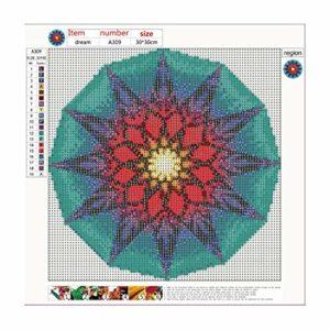 30x30cm Farbe Mandala 5d Würfel Diamant Malerei Diamant Stickerei Dekoration – bunt
