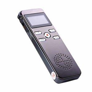 Accessoires pour la maison Enregistreur vocalMicrophone sensible auxespions Enregistrement complet dutéléphoneEnregistreurvocal à deux canaux pour téléphoneAucun son et aucune lumière Ré