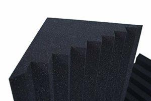 Basstraps Cannelé Correction Acoustique H100 D30 Noir Anthracite Paquet De 4