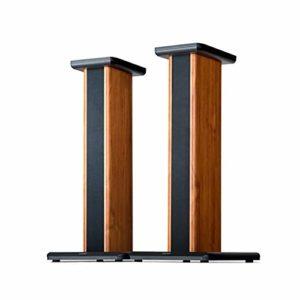 Bxyxj Pieds D'enceintes, avec Tapis Antidérapant pour Enceintes Surround Sound Speakers Etagères Audio De Plancher Wood Grain 65cm 2packs