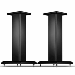 Bxyxj Support Audio en Bois avec Pieds Réglables De 64 Mm, Équipement Audio De 5 À 8 Pouces Pouvant Être Utilisé, Adapté Au Support De Chaîne Hi-FI Et De Cinéma Maison