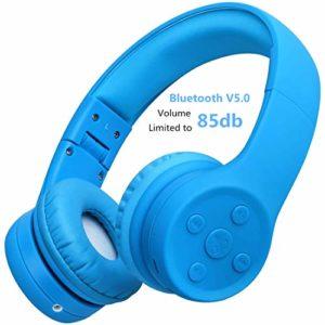 Casque sans Fil Bluetooth pour Enfants,Hisonic Casque pour Enfant Convient à Tous Les appareils Bluetooth pour Les Enfants (Bleu 01)