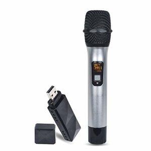 COJFEFG Microphone USB, sans Fil Microphone à Main, Convient for Les Ordinateurs, podcasts, Jeux, vidéos, Musique enregistrée, la Voix