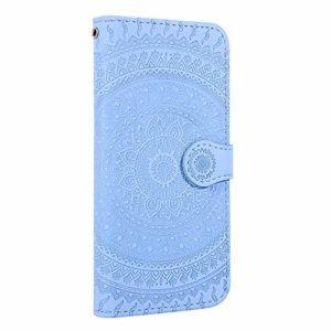 Coque Galaxy J4 2018 Porte-Cartes [Béquille] [Fentes pour Cartes] [Fermoir Magnétique] Étui à Rabat Housse en Cuir pour Samsung Galaxy J4 – TTHM020267 Bleu