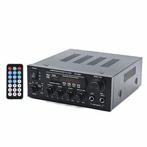 Docooler KS33BT Lecteur Audio numérique BT Amplificateur de Puissance Affichage LCD Amplificateur BT Amplificateur Amplificateur avec télécommande pour la Maison de Voiture