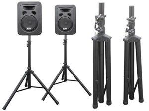 DRALL INSTRUMENTS 2 trépieds de Haut-parleurs pour sonorisation, discothèque, événement en Direct, Salle de répétition, système Vocal, scène, DJ Modèle: BS3x2