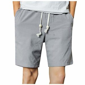 ELECTRI Homme Drawstring Swim Trunks Quick-Drying Beach Shorts for Men Comfortable Breathable
