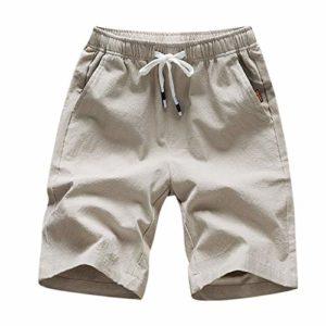 ELECTRI Homme Militaire Short de Loisir Travail Casual Shorts Bermudas Cargo Outdoor Coton Casual Lâche avec Poches Short de Sport Court Shorts Cargo – Homme Pantalon de Plage