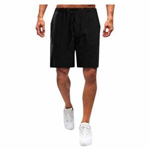 ELECTRI Homme Short Casual Ete Pantalon Court Sport Homme Bermuda Short Cargo Outdoor Couleur Unie Cordon de Serrage