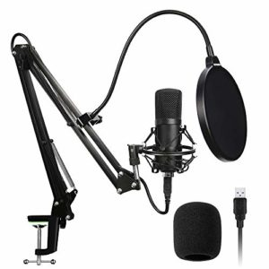 FADJIKKP 2 Microphones USB, Haute fréquence d'échantillonnage, Microphones appropriés for Les podcasts, Jeux, vidéos, Musique enregistrée, Voix (Color : A)