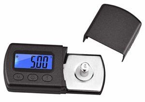 Flybiz Mini Balance Numérique Adaptateur Aiguille Platine Vinyle Précision 0.01 g, LP Stylus de Pèse-cellule numérique avec LCD affichage de bras de lecture pour (noir)