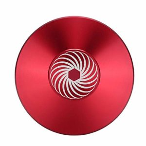 Garsent Disque de stabilisateur de Disque Vinyle, Pince de Poids Record en Aluminium pour Disque Audio de qualité supérieure(Rouge)
