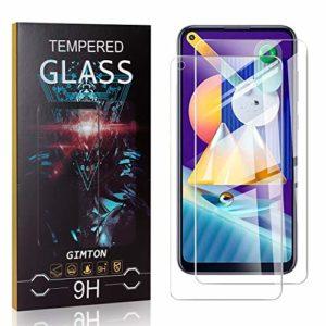 GIMTON Verre Trempé pour Galaxy M11, 3D Touch Ultra Résistant Protection en Verre Trempé Écran pour Samsung Galaxy M11, sans Traces de Doigts, 2 Pièces