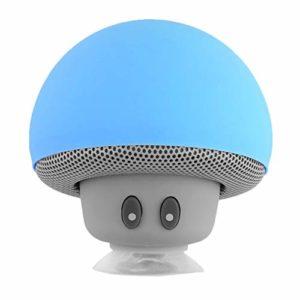 Haut-parleur portable universel sans fil style champignon Bleu